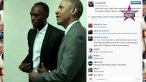 Barack Obama : Il prend la pose de l'éclair aux côtés d'Usain Bolt
