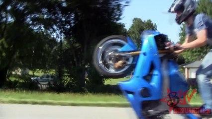 LONGEST Motorcycle WHEELIE On Highway Street Bike STUNTS Long Motorbike WHEELIES Stunt Bike TRICKS