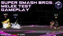 Super Smash Bros Melee Gameplay - Nintendo Gamecube - Peach Sheik Donkey Kong