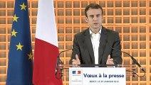 Archive - Emmanuel Macron présente ses voeux à la presse