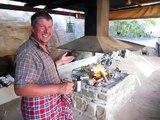 Camping Pathuis: salle de bain taillée dans la roche, sur coin feu, et coin cuisine, pour seulement 60Rand/nuit/pers.