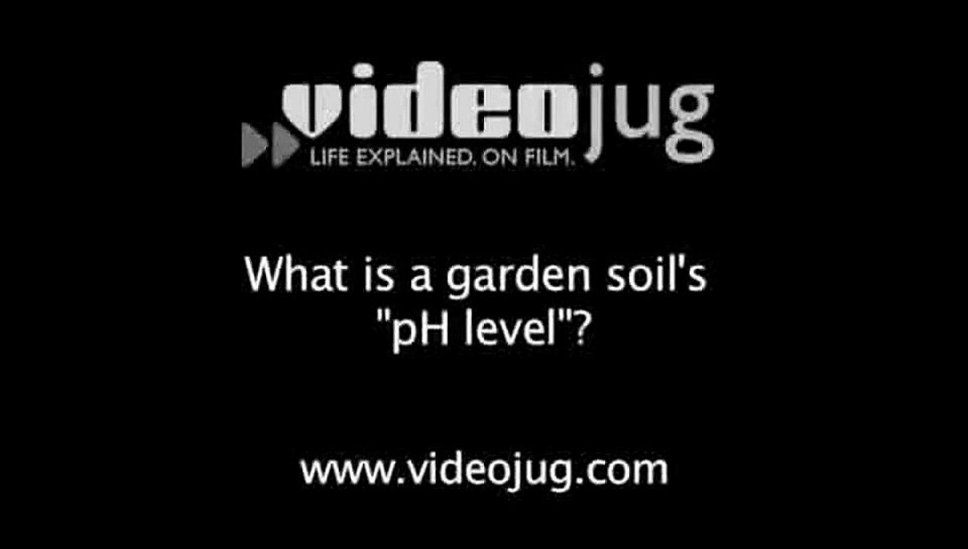 What is a garden soil's 'pH level'?: Garden Soil