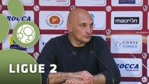 Conférence de presse AC Ajaccio - Dijon FCO (1-0) : Olivier PANTALONI (ACAJ) - Olivier DALL'OGLIO (DFCO) - 2014/2015