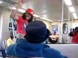 CRAZY GIRL ON TRAIN - MARTA TRAIN!