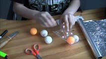 How to make smoke bomb out of ping pong balls