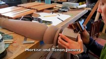 Contemporary Dining Table building process by Doucette and Wolfe Furniture Makers