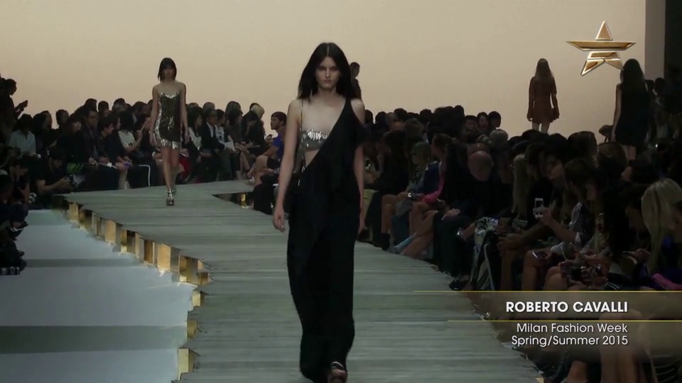 Fashion Week From the Runway Roberto Cavalli Milan Fashion Week Spring Summer 2015