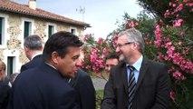 La visite de Nicolas Sarkozy dans la ferme de Charente