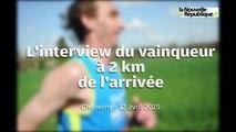 VIDEO (41) L'interview du vainqueur à 2 km de l'arrivée du marathon de Cheverny