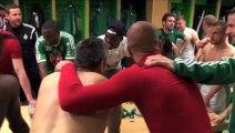 La joie des Verts après ASSE - Nantes (1-0)