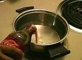 What happens if you boil Coca Cola?