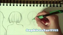 How to draw Manga Anime Style Hair: Part 3 Drawing Hair from a Back View Tutorial