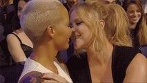 Amber Rose-Kissing-Amy Schumer At MTV Movie Awards 2015