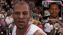 NBA 2K9 vs NBA Live 09 vs NBA 09 Face Comparison