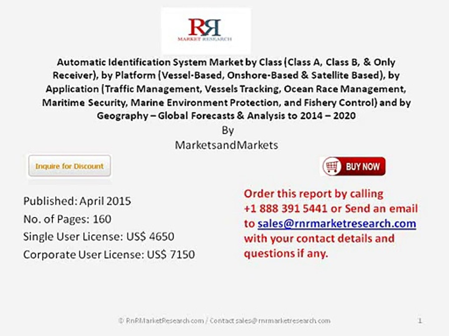 Worldwide Automatic Identification System Market Trends 2020 by Market Size, Application and Platfor