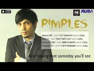 Mark Adam - Pimples [Official Lyrics Video]