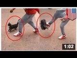 VIDEO: Un type martyrise un chat, se fait filmer, rit et arrêter pour cruauté envers les animaux