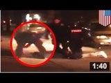 VIDEO: passage à tabac; Six policiers contre un. Et le vainqueur est?