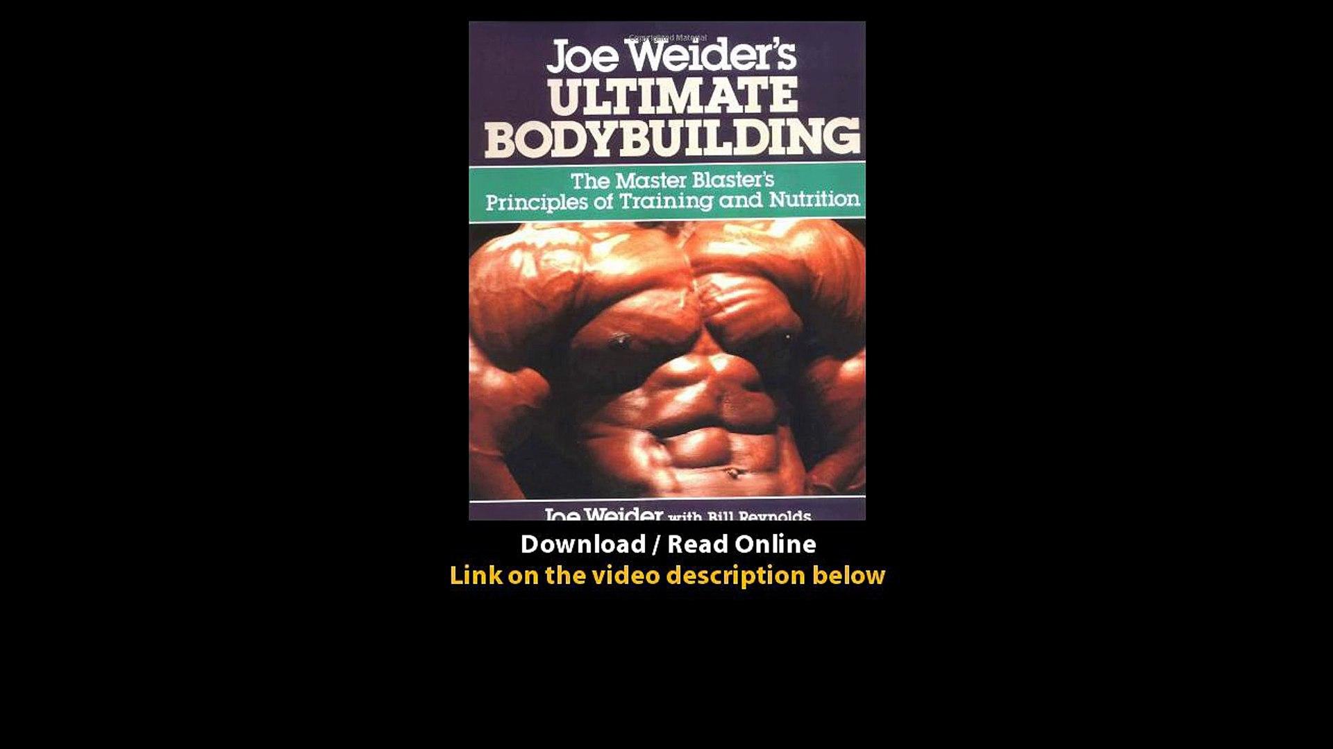 Download Joe Weiders Ultimate Bodybuilding By Joe Weiderbill Reynolds Pdf Video Dailymotion