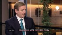 euronews interview - Irish PM warns UK that EU exit would be 'catastrophic'