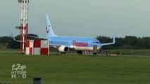 Ryanair Emergency Landing EI-DWF London Stansted ATR72 chased by flock of birds!