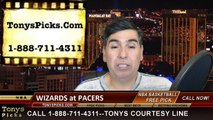 Indiana Pacers vs. Washington Wizards Free Pick Prediction NBA Pro Basketball Odds Preview 4-14-2015