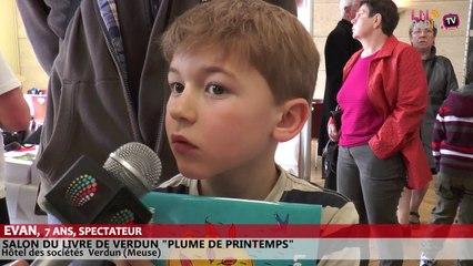 Salon du livre de Verdun - Interview de Evan, jeune spectateur