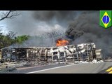 Brazil accident: Transbrasiliana bus collides with tanker truck, killing at least seven