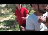 """Israeli soldiers arrest European tourists"". Palestine, Bethlehem, Beit Sahour. 31/03/2010"