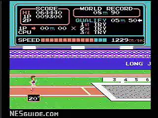 Track & Field – NES Gameplay