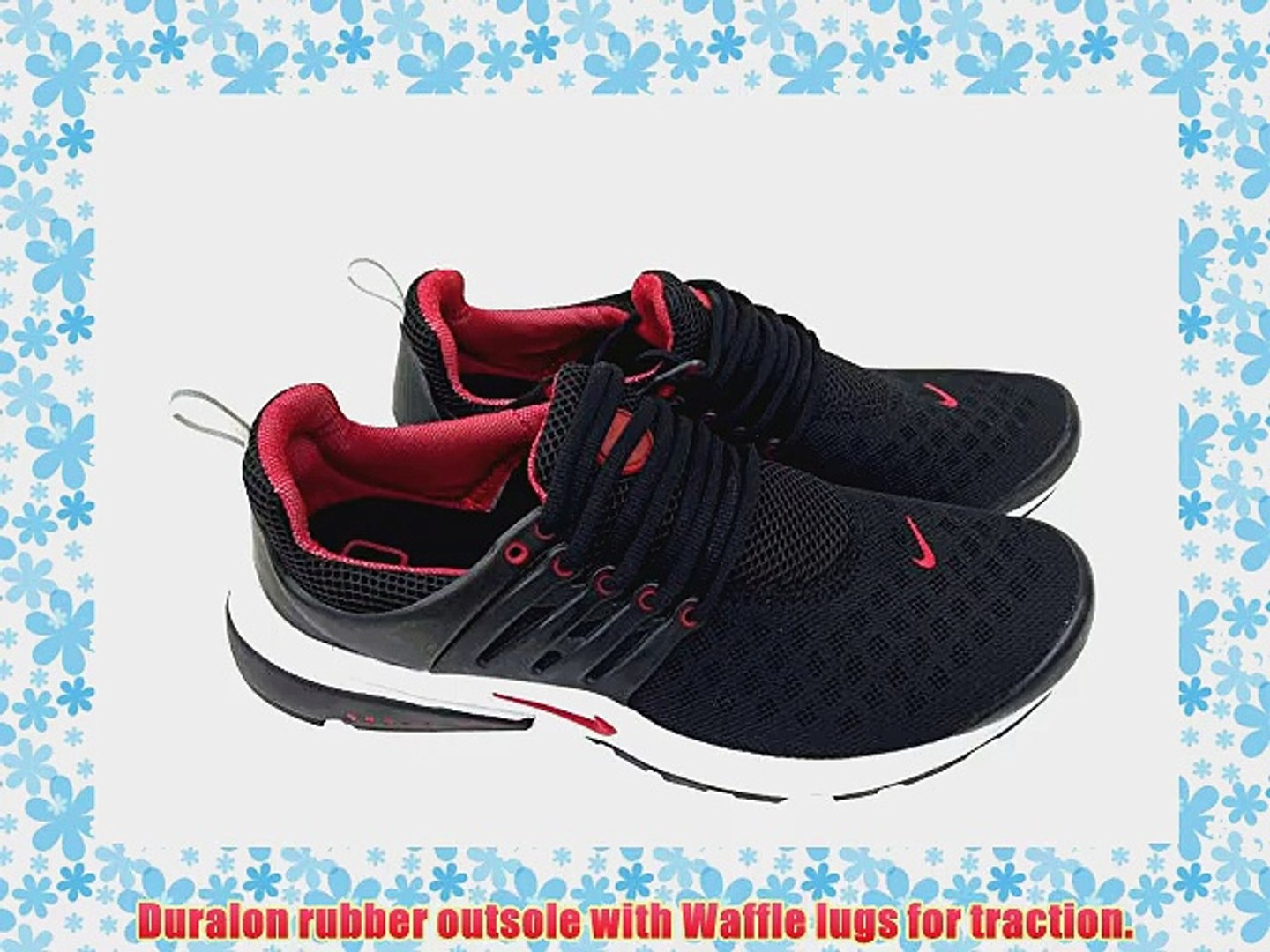 Nike Air Presto Black Red Mens Size 10 Sneakers Trainers Shox Shoes