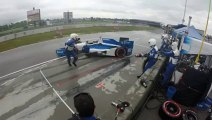 Indycar mechanician Todd Phillips hit by a car during race!