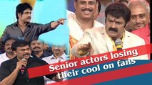 Senior actors losing their cool on fans