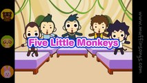 Muffin Songs - Five Little Monkeys   | nursery rhymes & children songs with lyrics | muffin songs