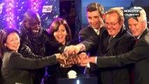 Omar Sy lance le coup d'envoi des illuminations de Noël sur les Champs Elysées