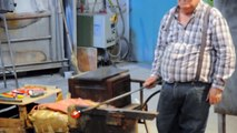 Venice Murano glass blower makes a Horse figurine in a matter of seconds