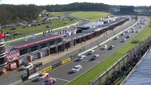 BrandsHatch2015 Race 3 Start Collard Spins Out and Multiple Cars Spin