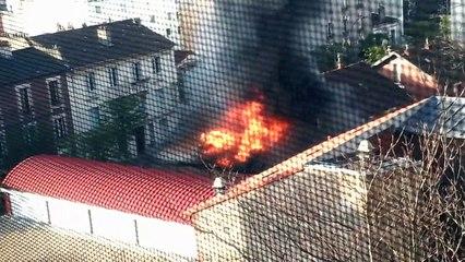 Saint-Ouen : un atelier d'art ravagé dans un incendie