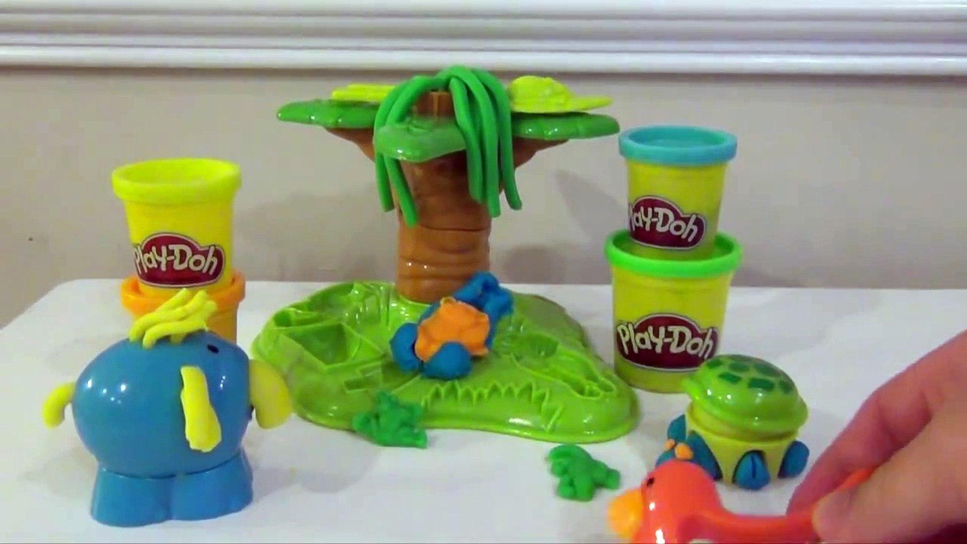 PLAY-DOH Tutorial Animal Activities Jungle Pets How to Make Play-Doh Jungle Pets Play Set Toy