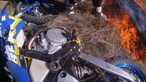 Husaberg FE (Fire Extinguisher) 570 Dirtbike Grass Fire