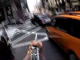 A Bold Line - Bicycling New York by Rainer Ganahl