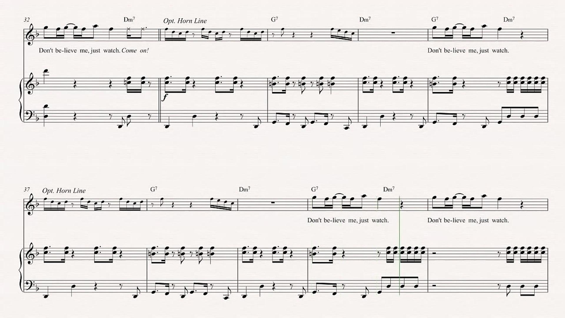 Trumpet Uptown Funk Mark Ronson Sheet Music Chords Vocals