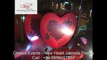 New Heart Jaimala Theme Concepts Bride Groom Royal Entry Indian Wedding by Cheers Events