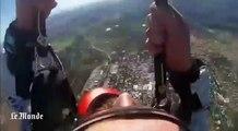 Saut en parachute : impressionnante chute d'une caméra embarquée