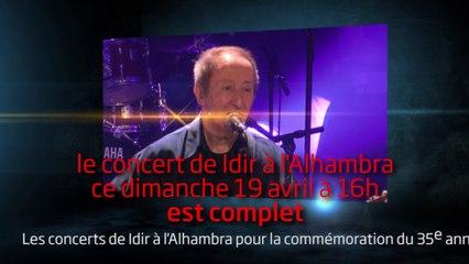 Les concerts de Idir à l'Alhambra complets