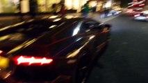 HD - LAMBORGHINI AVENTADOR CATCHES FIRE IN KNIGHTSBRIDGE LONDON!!! (Full Footage) 1_11_14