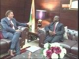 Le 1er Ministre Soro Guillaume à reçu M. Bert Koenders, Catherine Bragg et Koffi Annan