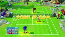 SEGA Superstars Tennis: Sonic & Amy vs Shadow & Dr. Eggman {Sonic The Hedgehog Court} [1080 HD]