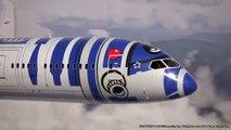 Nippon Airways Star Wars Plane STAR WARS JET _ R2-D2 JET