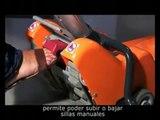 Oruga Salvaescaleras, Tractor de Orugas para movilizar sillas de ruedas por sobre las escaleras